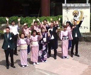 日本岡山县温泉酒店前台翻译