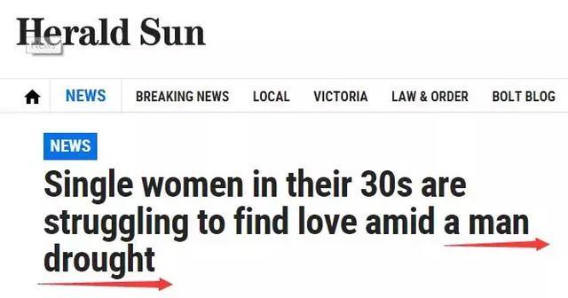 """澳洲""""男人荒""""加剧,求中国男生拯救!大量妹子找不到男友"""