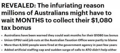 突发新政65万澳洲人急报税,ATO周末加班,忙到人仰马翻!创历史纪录